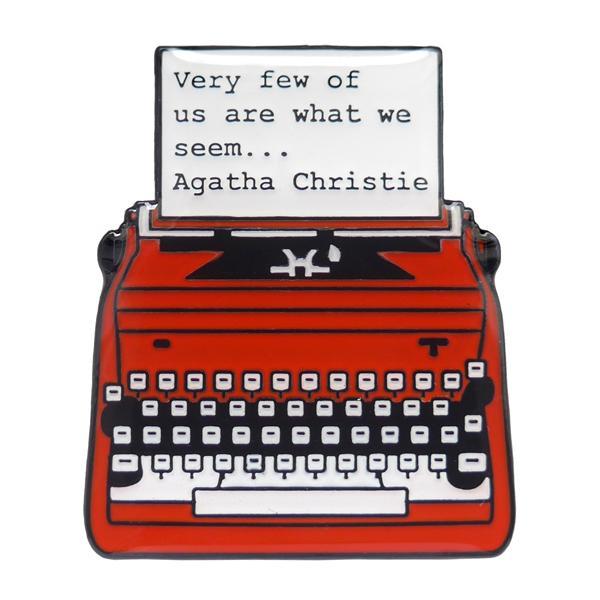 Agatha Christie Enamel Pin
