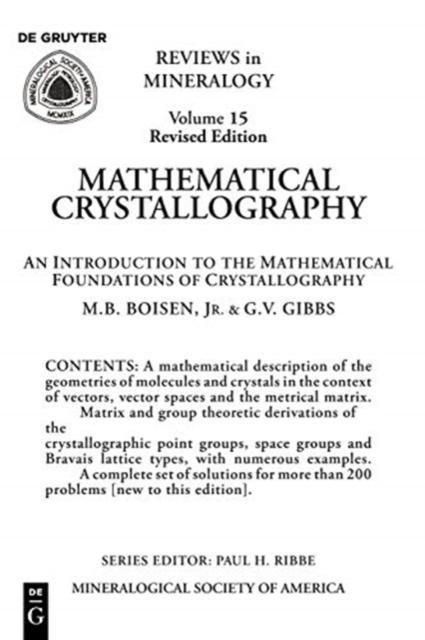 Mathematical Crystallography