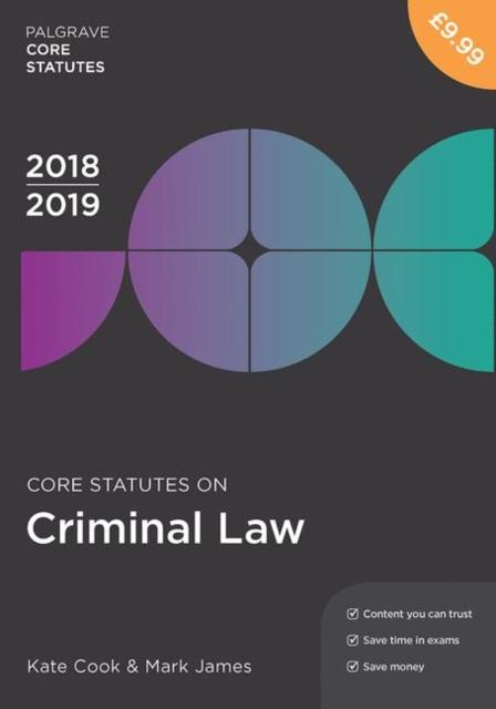 Core Statutes on Criminal Law 2018-19