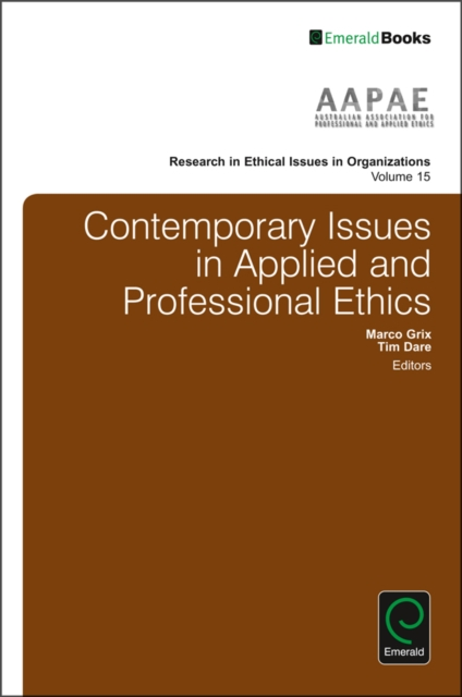 Contemporary Issues in Applied and Professional Ethics