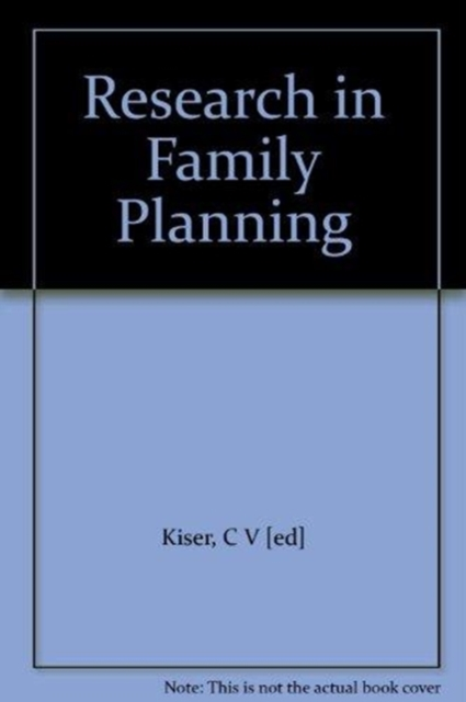 Research in Family Planning
