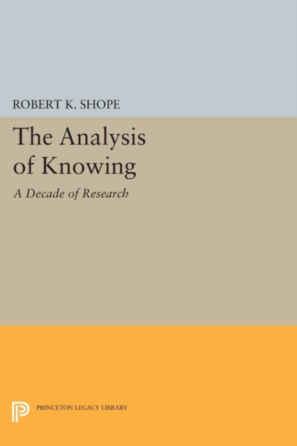 Analysis of Knowing