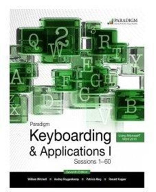 Paradigm Keyboarding I: Sessions 1-60