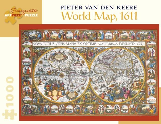 Pieter Van Den Keere World Map 1000-Piece Jigsaw Puzzle  Aa902