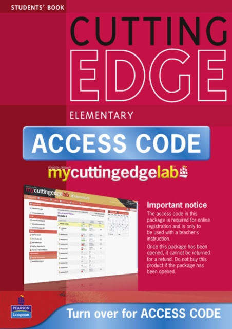 New Cutting Edge Elementary Coursebook/CD-ROM/MyLab Access Card Pack