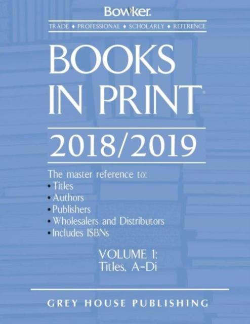 Books in Print, 2018/19