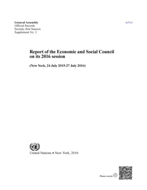 Report of the Economic and Social Council for 2016