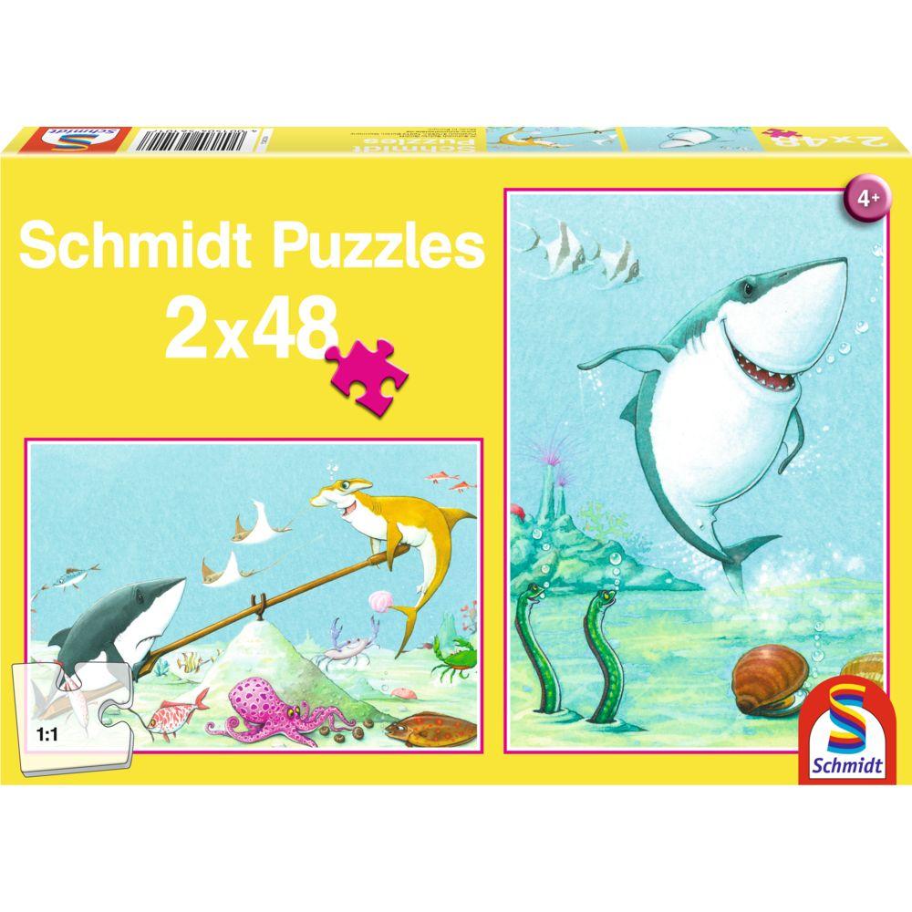 Puzzle 2 in 1 Rechini jucausi (2x48 piese)